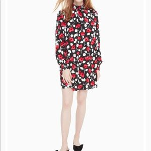Kate Spade Vintage Fleur Crepe Dress - XL